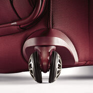 Samsonite Silhouette XV Spinner Boarding Bag in the color Napa Red.