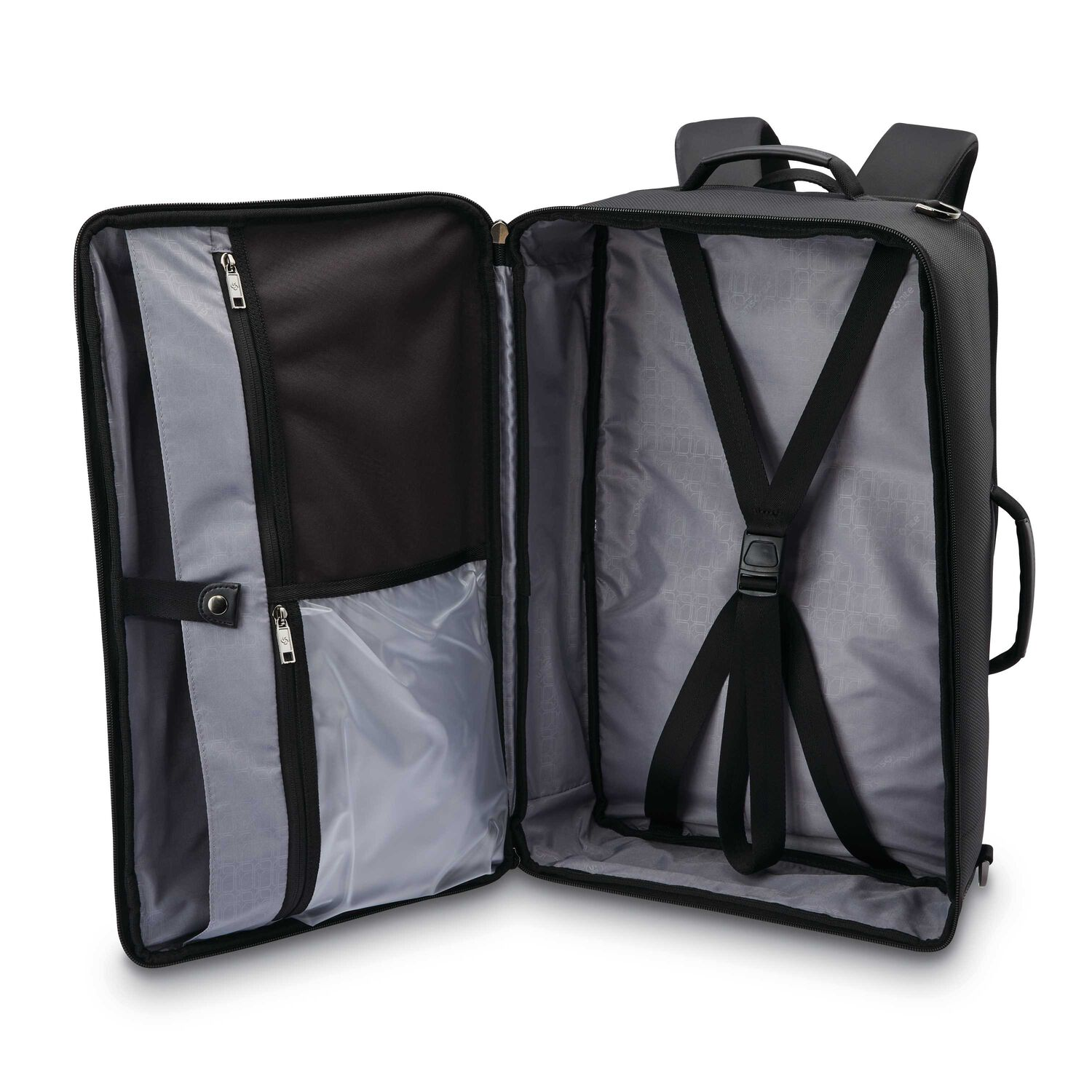 Samsonite Encompass Convertible Overnight Backpack In The Color Black