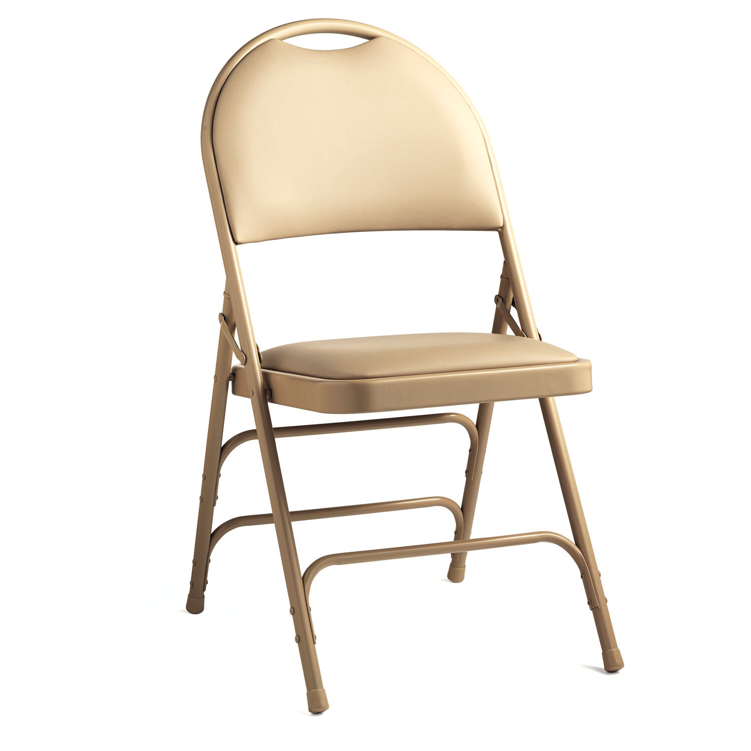 vinyl folding chairs. Samsonite Steel \u0026 Vinyl Folding Chair With Memory Foam (Case/4) In The Color Neutral. Chairs B