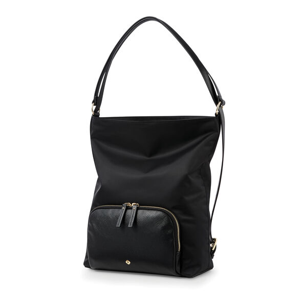 Samsonite Encompass Womens Convertible Hobo Backpack in the color Black.