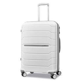"Samsonite Freeform 24"" Spinner in the color White."