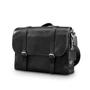 Samsonite Mens Leather 1910 Heritage Messenger In The Color Black