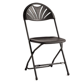 Samsonite 2000 Series Injection Mold Fanback Folding Chair (Case/10) in the color Black.