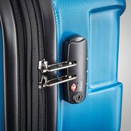 "Samsonite Centric 28"" Spinner in the color Caribbean Blue."