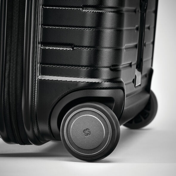 Samsonite Silhouette 16 Wheeled Hardside Underseater in the color Obsidian Black.
