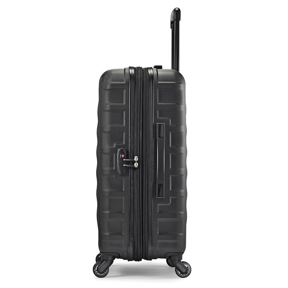 "Samsonite E-Volve DLX 24"" Spinner in the color Black."