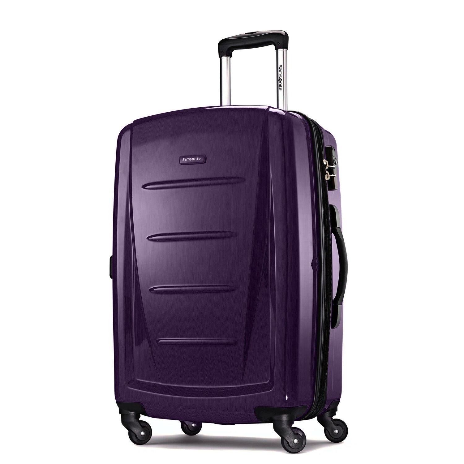 """Samsonite Winfield 2 Fashion 24"""" Spinner in the color Purple."""