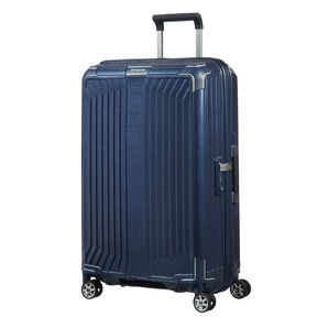 "Samsonite Lite-Box 25"" Spinner in the color Deep Blue."