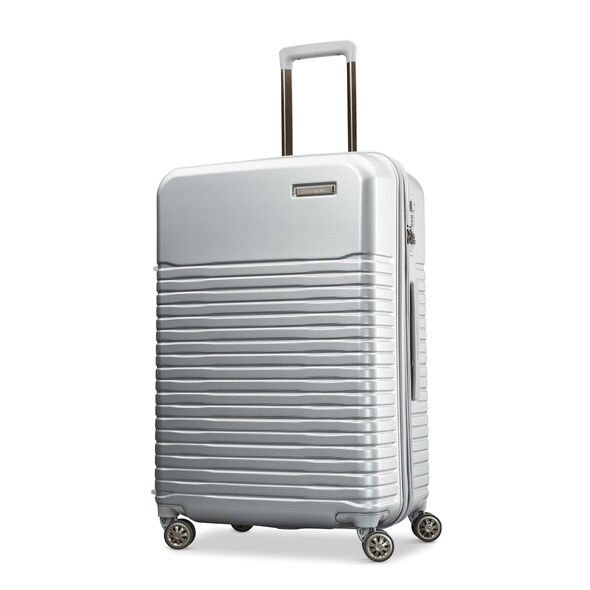 "Samsonite Spettro 25"" Spinner in the color Silver."