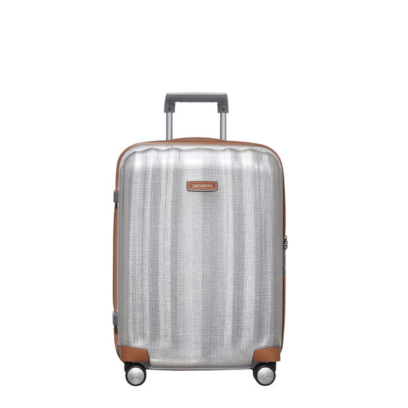 "Samsonite Black Label Lite-Cube DLX 20"" Spinner in the color Aluminum."