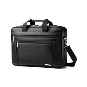 "Samsonite Classic Business Perfect Fit Two Gusset Laptop Bag - 15.6"" in the color Black."