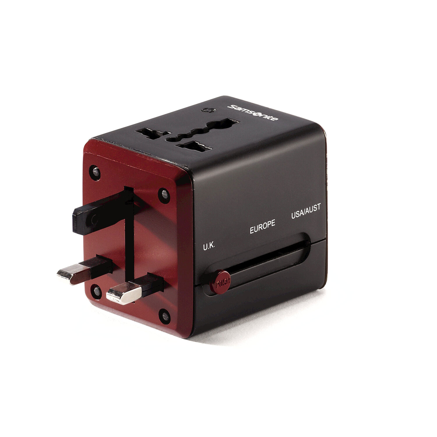 Samsonite World Wide Power Adapter In The Color Black Red