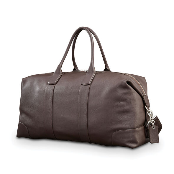Samsonite Mens Leather Classic Duffel in the color Dark Brown.