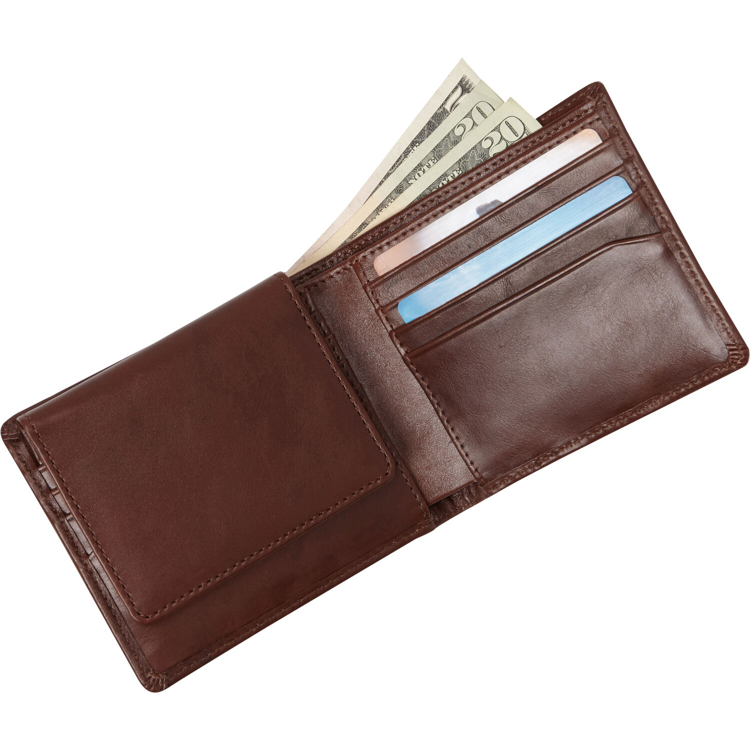 93cbb798667 Samsonite Mens Leather 2 Compartment Wallet with Removable ID Case in the  color Chestnut.