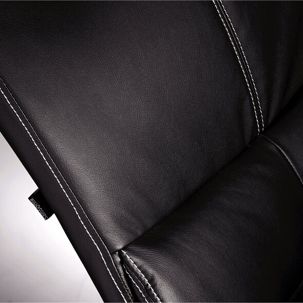 Samsonite Singapore Premium Bonded Leather Chair in the color Black.