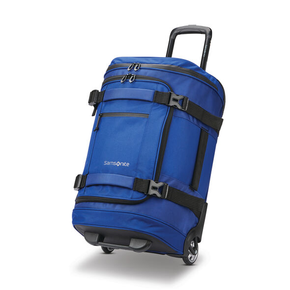 "Samsonite Detour 22"" Wheeled Duffel in the color Cobalt Blue."