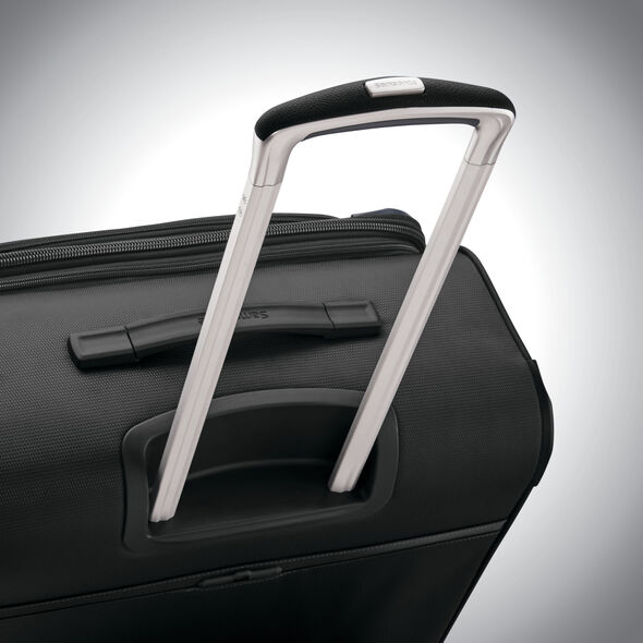 """Samsonite SoLyte DLX 25"""" Expandable Spinner in the color Midnight Black."""