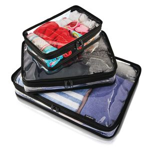 Go Clear 3PC Packing Cubes in the color Clear.