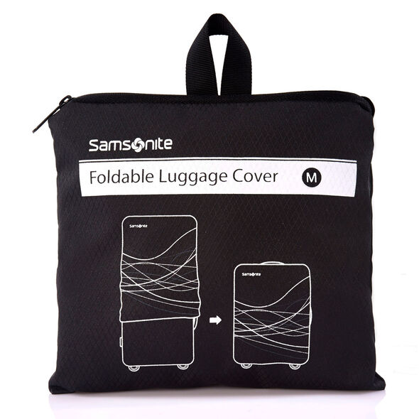 Samsonite Medium Foldable Luggage Cover in the color Black.