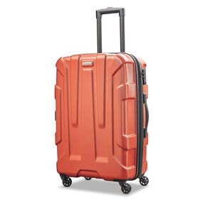 "Samsonite Centric 24"" Spinner in the color Burnt Orange."