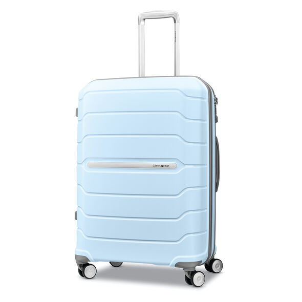 "Samsonite Freeform 24"" Spinner in the color Sky Blue."
