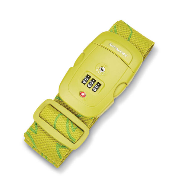 3 Dial Combination Luggage Strap in the color Vivid Green.