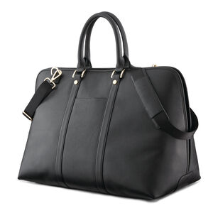 Ladies Leather Weekend Carryall in the color Black.
