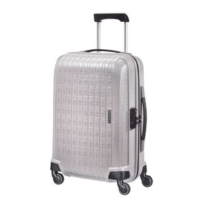 "Samsonite Chronolite 20"" Spinner in the color Pearl."