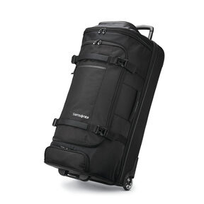 "Samsonite Detour 34"" Wheeled Duffel in the color Black."