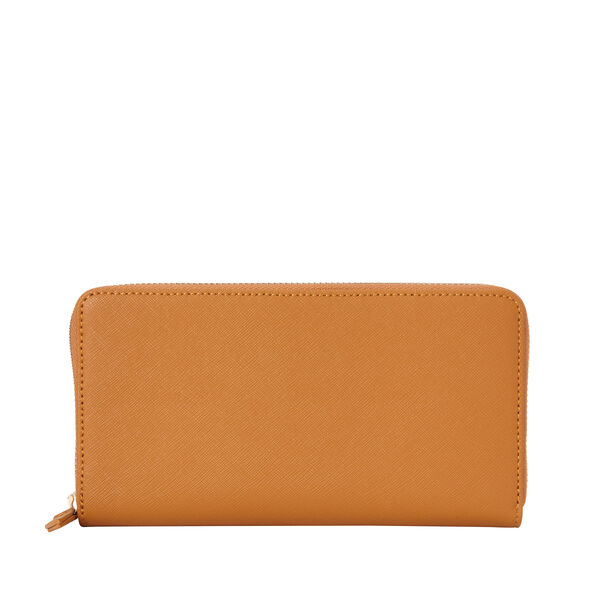 Samsonite Ladies Leather Zip Around Wallet in the color Cognac.