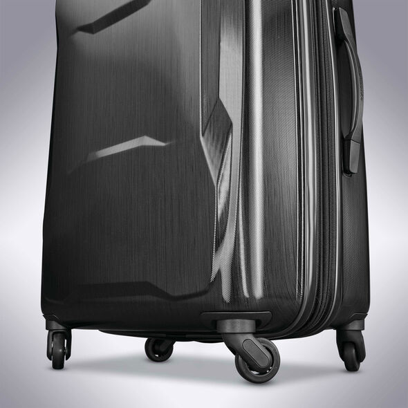 "Samsonite Pivot 20"" Spinner in the color Brushed Black."