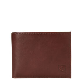 Samsonite Mens Leather 2 Compartment Wallet in the color Chestnut.
