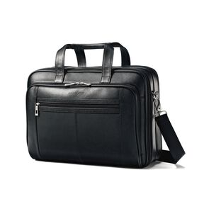 Samsonite Leather Checkpoint Friendly Case in the color Black.