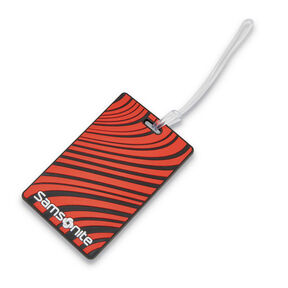 Samsonite Samsonite Designer ID Tags in the color Varsity Red Stripe.
