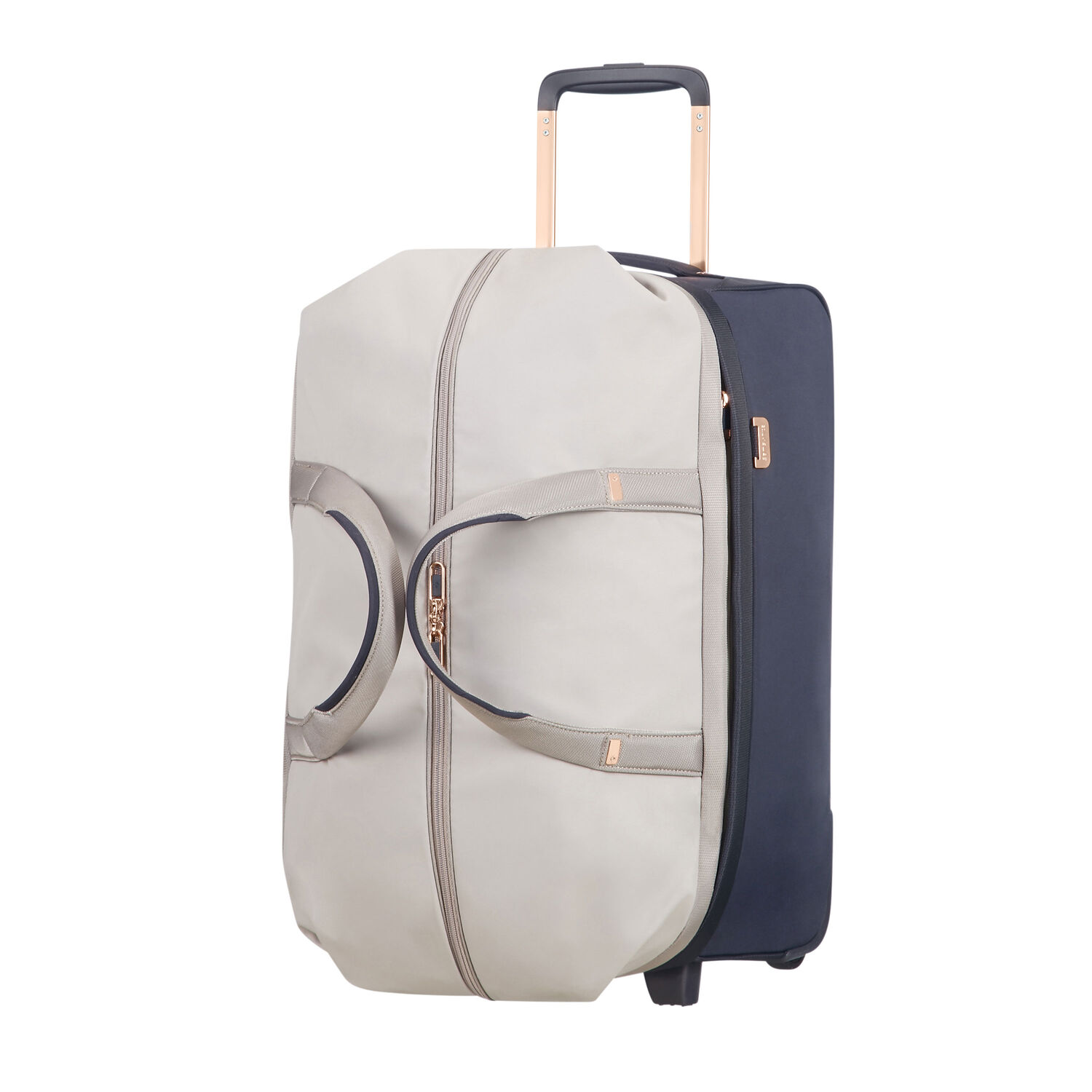 "Samsonite Uplite 20"" Wheeled Duffle in the color Pearl/Blue."