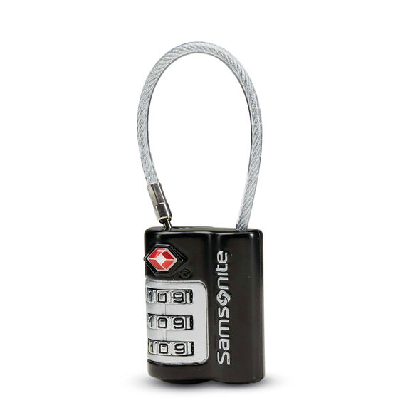Samsonite 3 Dial Combination Cable Lock in the color Black.