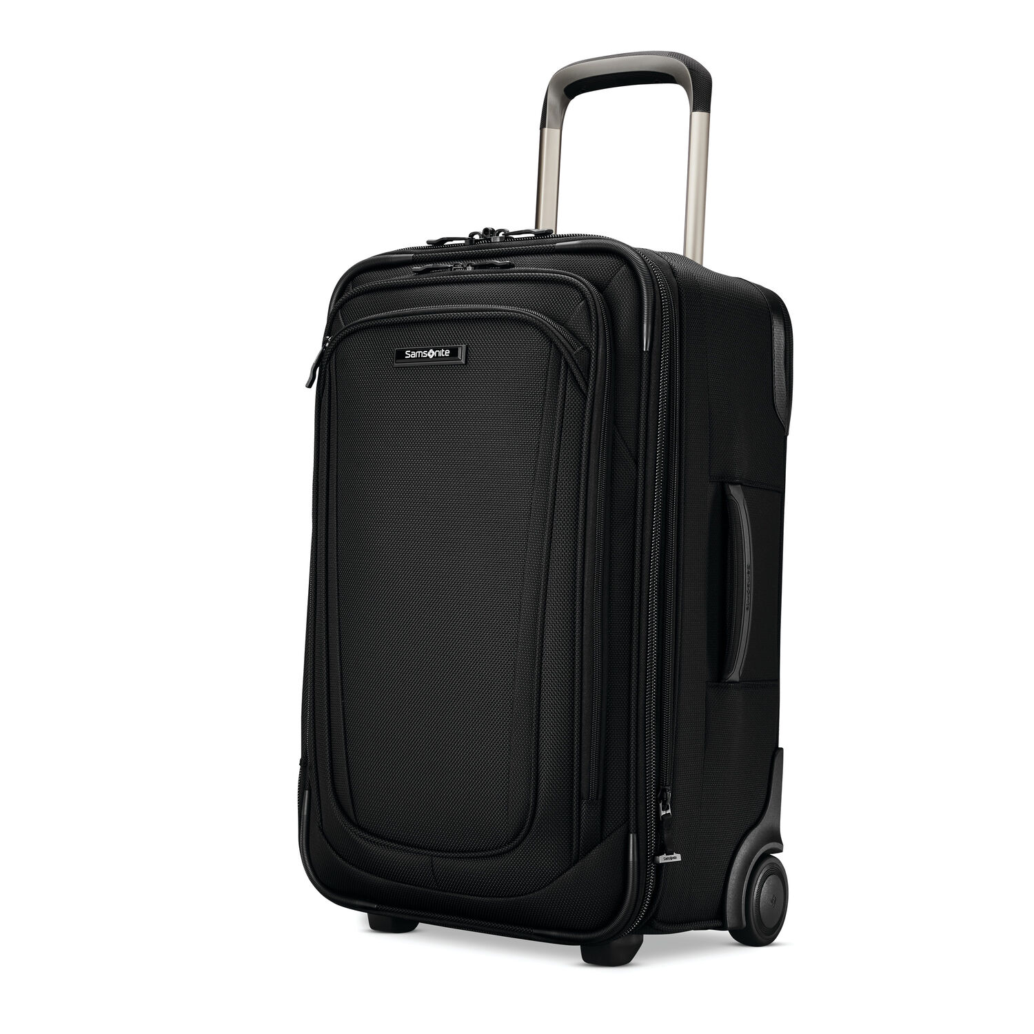 Samsonite Silhouette 16 Expandable Wheeled Carry-On in the color Obsidian Black.