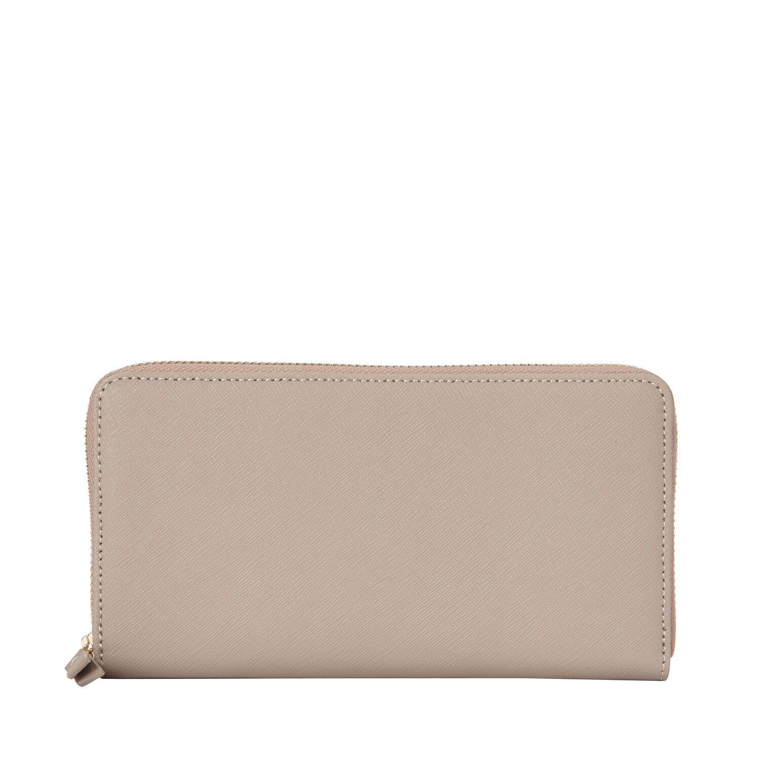 Samsonite Las Leather Zip Around Wallet In The Color Light Grey