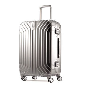 "Samsonite Tru-Frame 25"" Spinner in the color Matte Silver."