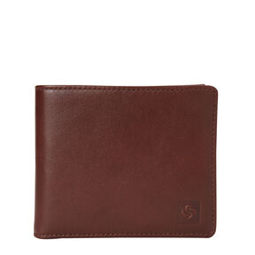 Samsonite Mens Leather 2 Compartment Wallet with Removable ID Case in the color Chestnut.