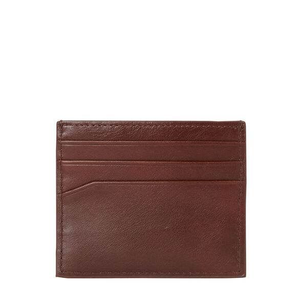Samsonite Leather Card Case in the color Chestnut.