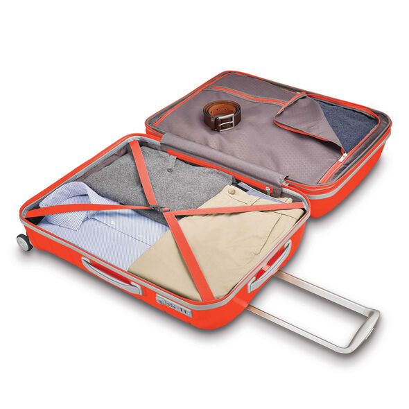 "Samsonite Freeform 21"" Spinner in the color Tangerine."