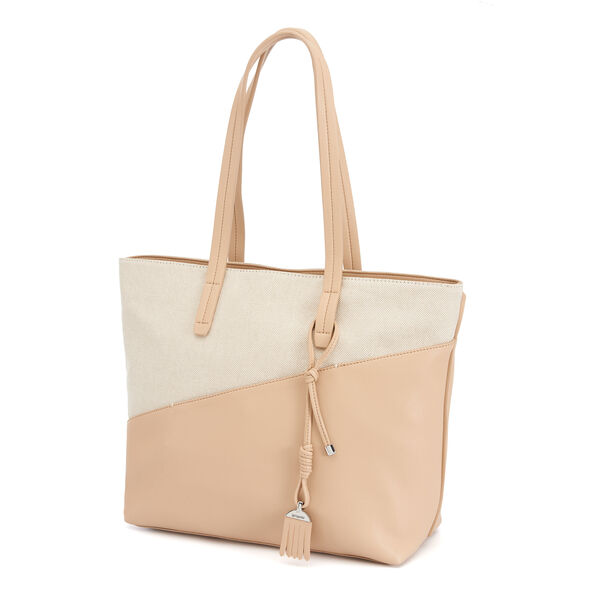 Samsonite Milleraye Shopping Bag M Canvas in the color Natural/Canvas.