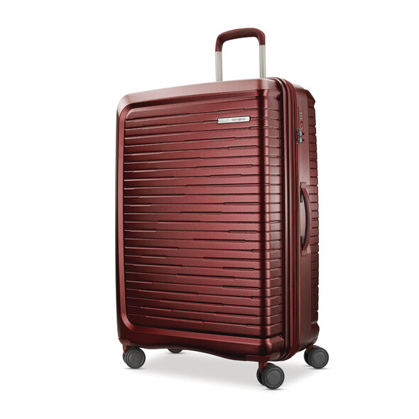 "Samsonite Silhouette 16 29"" Hardside Spinner in the color Cabernet Red."