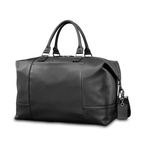 Samsonite Mens Leather Classic Weekender in the color Black.