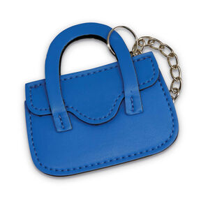 Purse ID Tag in the color Blue Fantasy.