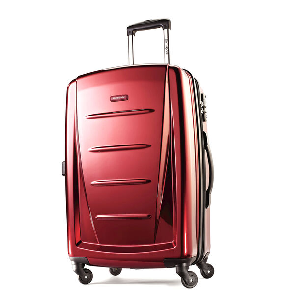"Samsonite Reflex 2 24"" Expandable Spinner in the color Burgundy."