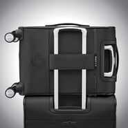 Samsonite SoLyte DLX Carry-On Expandable Spinner in the color Midnight Black.