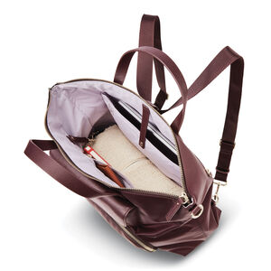 Encompass Womens Convertible Brief Backpack in the color Bordeaux.