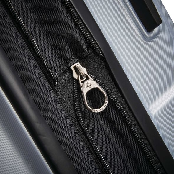 """Samsonite Centric 20"""" Spinner in the color Silver."""